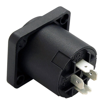 Female speaker chassis mount connector-soldering type